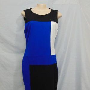 Like New Vincent Cumuto Color Block Dress